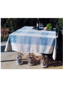 NAPPE JACQUARD ENDUIT CARCES GRIS BLEU 1,50 x 1,20