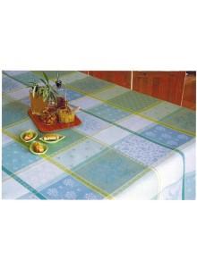 NAPPE JACQUARD ENDUIT VALBONNE VERT 1,50 x 1,20