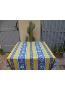 Nappe Enduite Vence Jaune Bleu 160x120