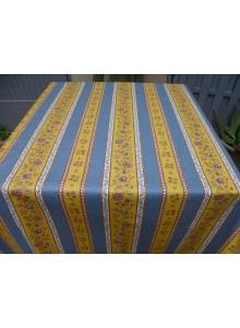 Nappe Enduite BEAUCAIRE Jaune Bleu 160x120
