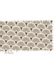 Nappe Enduite Eventails Beige