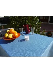 Nappe Enduite Saki Bleu Canard 160x120