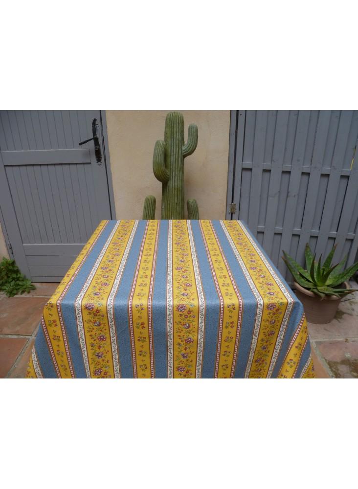 tissu-coton-beaucaire-jaune-bleu